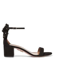 Aquazzura Siena bow-embellished suede sandals