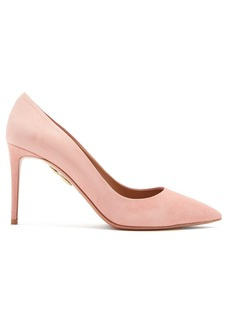 Aquazzura Simply Irresistible 85mm suede pumps