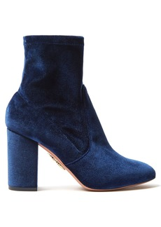 Aquazzura So Me 90 velvet ankle boots