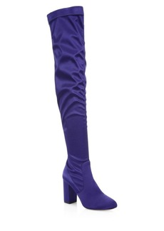 Aquazzura So Me Over-the-Knee Satin Boots