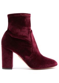 Aquazzura So Me velvet ankle boots