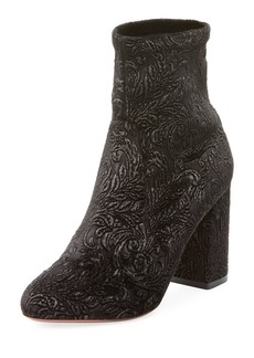 Aquazzura So Me Velvet Brocade Bootie
