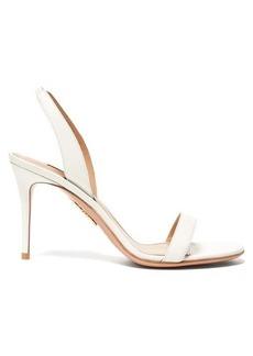 Aquazzura So Nude 85 leather slingback sandals