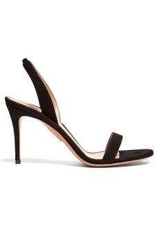 Aquazzura So Nude 85 slingback suede sandals