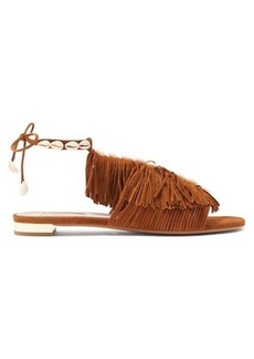 Aquazzura So Tulum fringed suede sandals