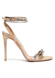 Aquazzura So Vera 105 crystal suede sandals
