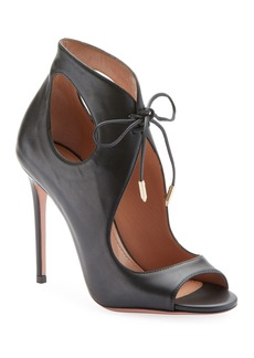 Aquazzura Sonam Cutout Open-Toe Booties