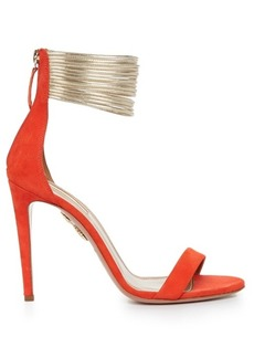 Aquazzura Spin Me Around suede sandals