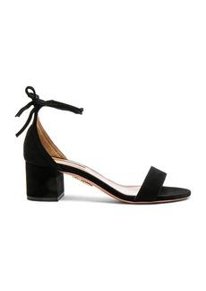 Aquazzura Suede City Sandal Heels