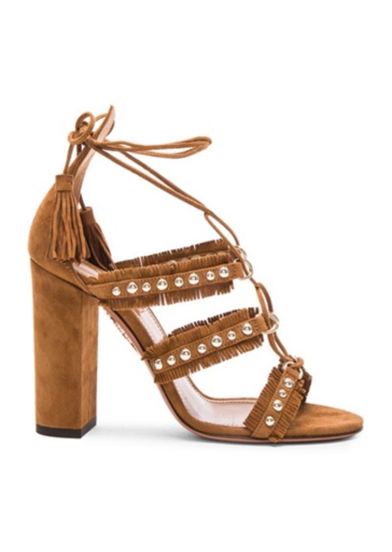 Aquazzura Suede Tulum Sandals