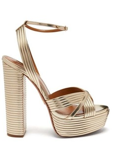 Aquazzura Sundance 130 leather platform sandals