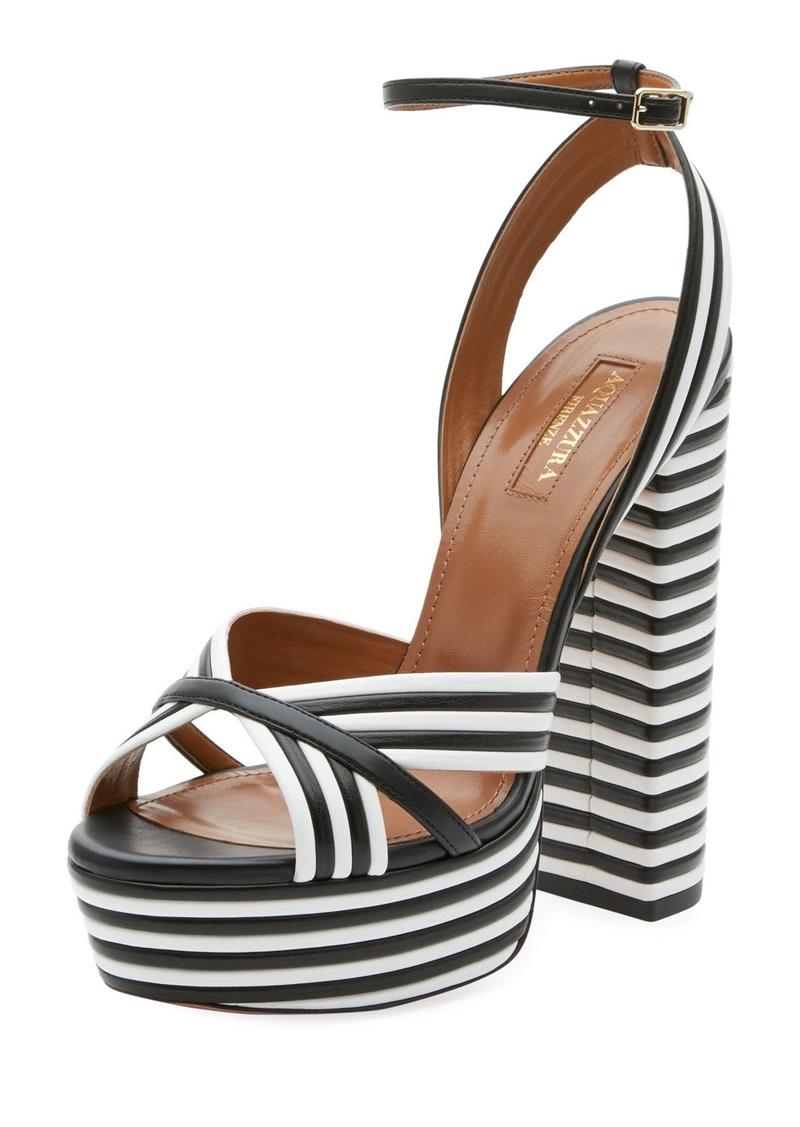 8e1394ee12 Aquazzura Sundance Plateau Leather Platform Sandal | Shoes