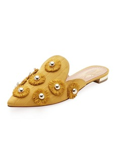 Aquazzura Sunflower Studded Mule Slide