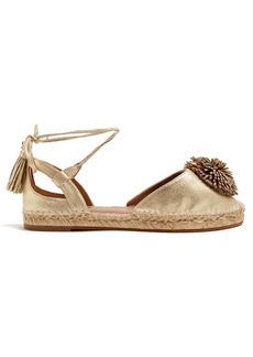 Aquazzura Sunshine leather espadrilles