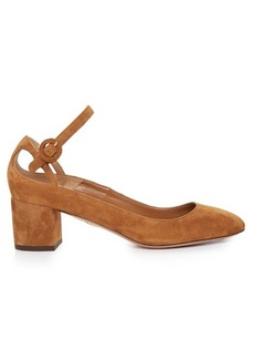 Aquazzura Sweet Thing suede block-heel pumps