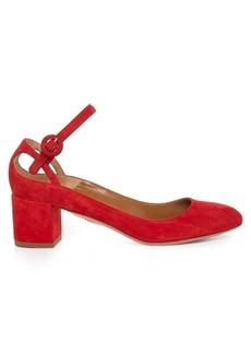 Aquazzura Sweet Thing suede block-heel pumps