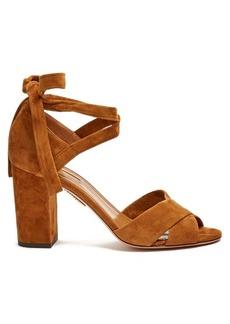 Aquazzura Tarzan block-heel suede sandals