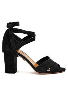 Aquazzura Tarzan suede block-heel sandals