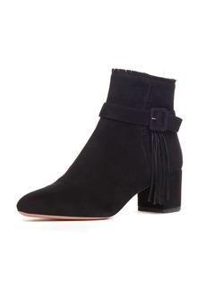 Aquazzura Tatiana Suede Buckle Boots