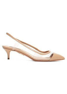 Aquazzura Temptation 45 slingback leather pumps