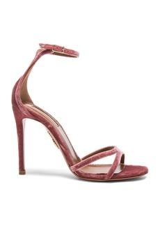 Aquazzura Velvet Purist Sandal Heels