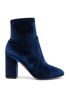 Aquazzura Velvet So Me Booties