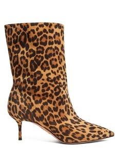 Aquazzura Very Boogie 60 leopard-print suede boots