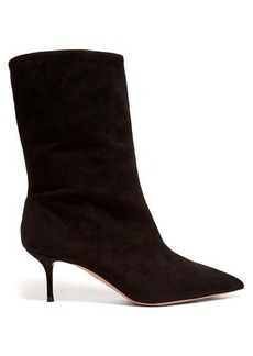 Aquazzura Very Boogie 60 slouched suede boots