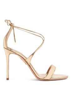 Aquazzura Very Linda 105 metallic leather sandals