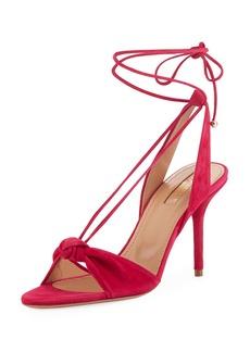 Aquazzura Virginie Knotted Self-Tie Sandal