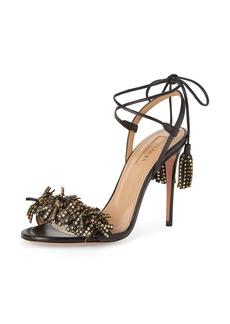 Aquazzura Wild Crystal Fringe Sandal (Women)
