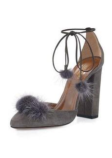 Aquazzura Wild Russian Mink Fur Pump