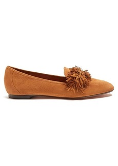 Aquazzura Wild Thing fringed suede loafers