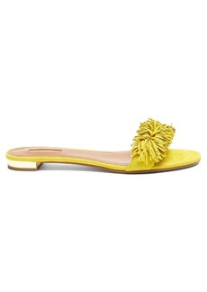 Aquazzura Wild Thing suede slides