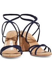 Aquazzura Woman Gin 85 Suede Sandals Navy