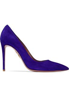 Aquazzura Woman Simply Irresistible Suede Pumps Royal Blue