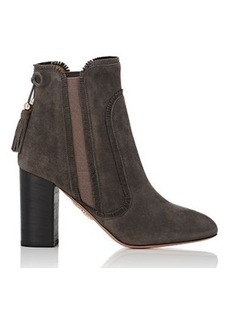 Aquazzura Women's Tristan Suede Ankle Booties