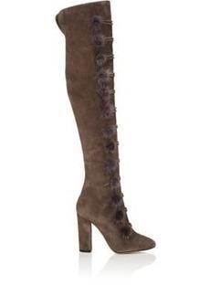 Aquazzura Women's Ulyana Suede Over-The-Knee Boots