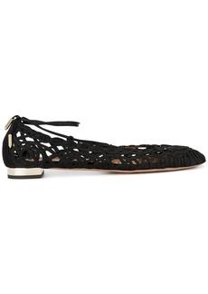 Aquazzura Black Kya Ballet Flats