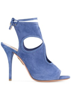 Aquazzura Blue Sexy Thing 110 suede sandals
