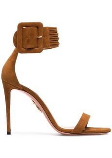 Aquazzura Brown Casablanca 110 Suede Sandals
