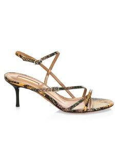 Aquazzura Carolyne Snakeskin Strappy Sandals