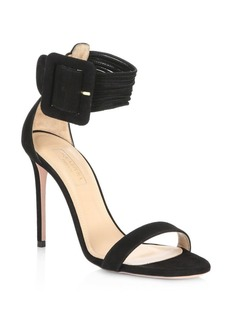 Aquazzura Casablanca Suede Stiletto Sandals