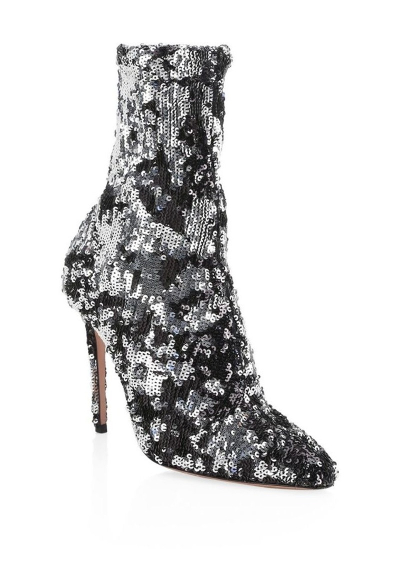 Aquazzura Costes Sequin Booties