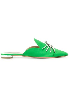 Aquazzura Crystal Spider flats
