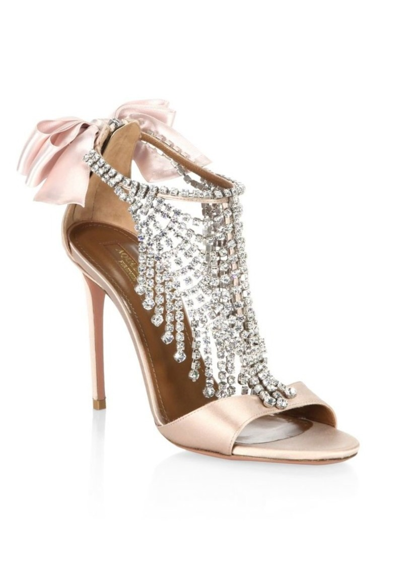 Fifth Avenue Fifth Crystalamp; Satin Sandals TlKF1Jc