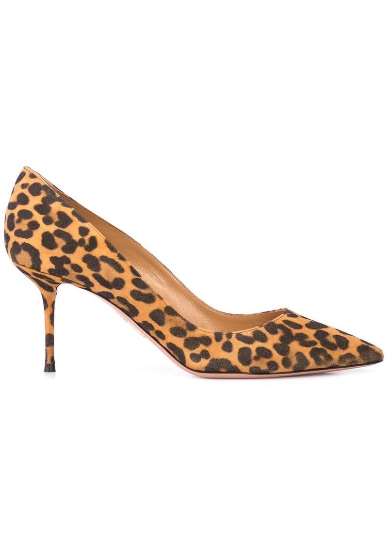Aquazzura leopard print 75mm pumps