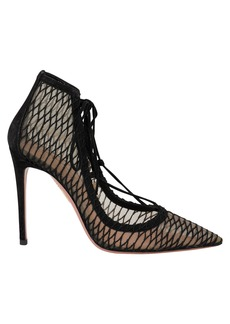 Aquazzura Lush Lace Up Mesh Pumps