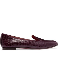 Aquazzura Purist Croc-effect Leather Loafers