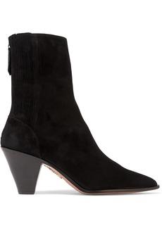 Aquazzura Saint Honoré 70 Suede Sock Boots
